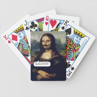 Mona Lisa necesita buen encerar Baraja Cartas De Poker