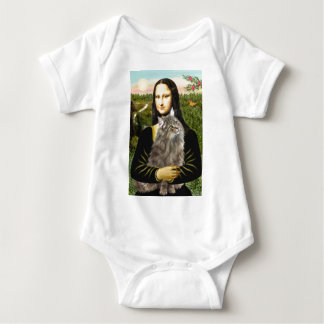 Mona Lisa - Norweigan Forest Cat Baby Bodysuit