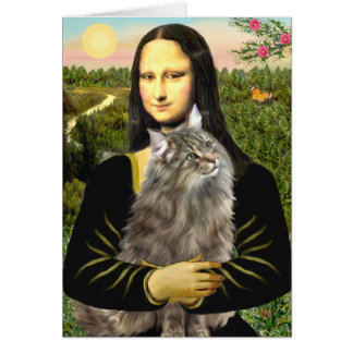 Mona Lisa - Norweigan Forest Cat Card