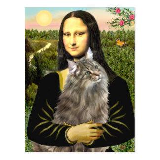 Mona Lisa - Norweigan Forest Cat Postcard
