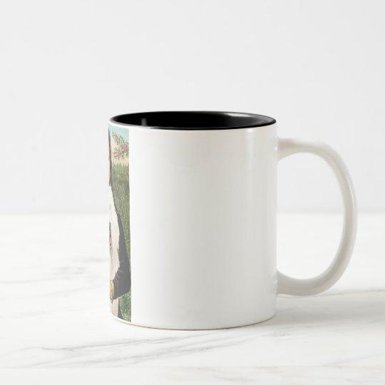 Mona Lisa - Old English 3 Two-Tone Coffee Mug