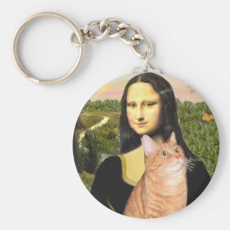 Mona Lisa - Orange Tabby SH 46 Basic Round Button Keychain