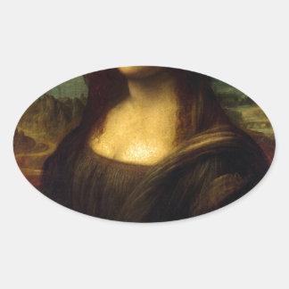 Mona_Lisa Oval Sticker