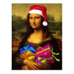 Mona Lisa Papá Noel Postales
