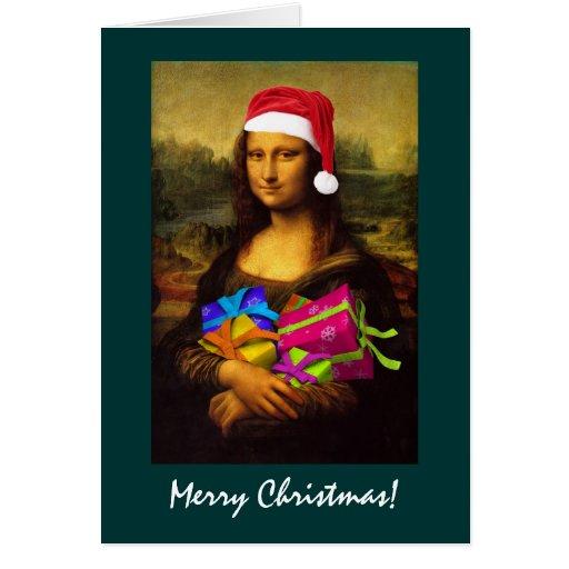 Mona Lisa Papá Noel Tarjeta De Felicitación