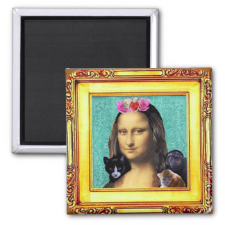 Mona Lisa Parody Portrait Magnet