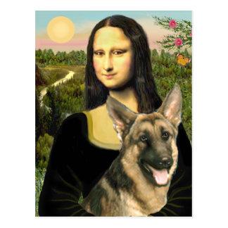 Mona Lisa - pastor alemán 2 Tarjeta Postal