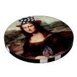 Mona Lisa patriótica - aliste para el Día de la In Fichas De Póquer