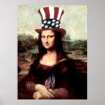 Mona Lisa patriótica - aliste para el Día de la In Posters