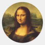 Mona Lisa Pegatina Redonda