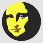 Mona Lisa Pegatinas Redondas