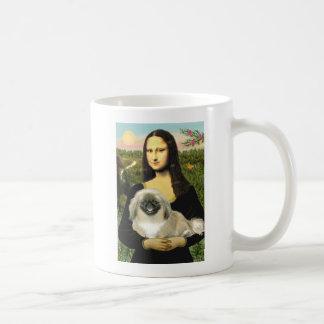 Mona Lisa - Pekingese 1b Taza Básica Blanca