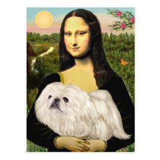Mona Lisa - Pekingese blanco (#4) Tarjeta Postal