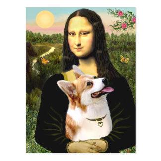 Mona Lisa - Pembroke Welsh Corgi 7b Postcard
