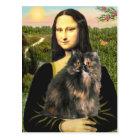 Mona Lisa - Persian Calico cat Postcard