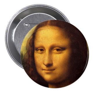 Mona Lisa Pin Redondo De 3 Pulgadas