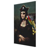 Mona Lisa Pirate Captain Canvas Print