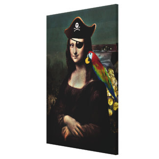 Mona Lisa Pirate Captain Canvas Print