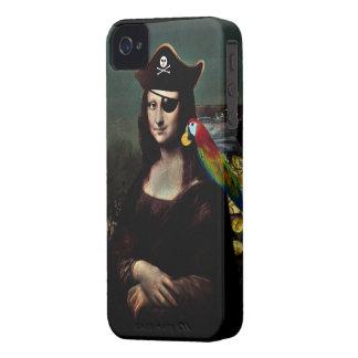 Mona Lisa Pirate Captain iPhone 4 Case-Mate Cases