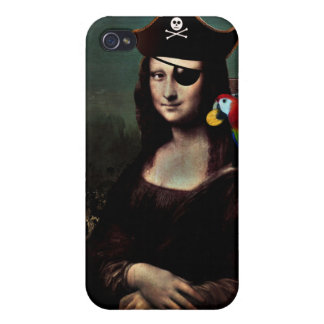 Mona Lisa Pirate Captain Cases For iPhone 4