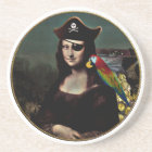 Mona Lisa Pirate Captain Coaster