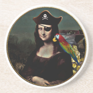 Mona Lisa Pirate Captain Coaster
