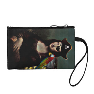 Mona Lisa Pirate Captain Coin Wallet