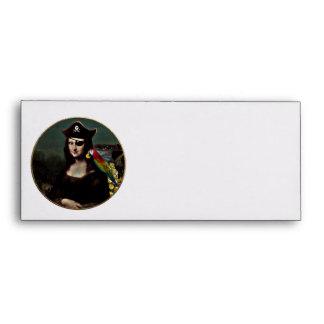 Mona Lisa Pirate Captain Envelope