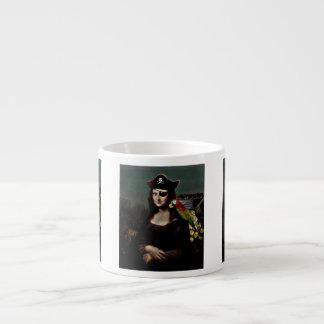 Mona Lisa Pirate Captain Espresso Cup