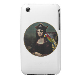 Mona Lisa Pirate Captain iPhone 3 Cases