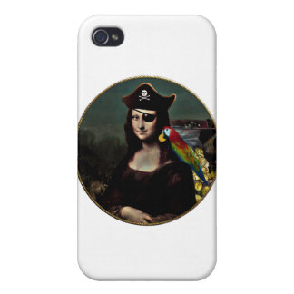 Mona Lisa Pirate Captain iPhone 4 Covers