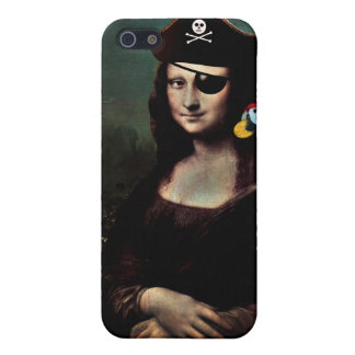 Mona Lisa Pirate Captain Cases For iPhone 5