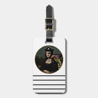 Mona Lisa Pirate Captain Luggage Tag