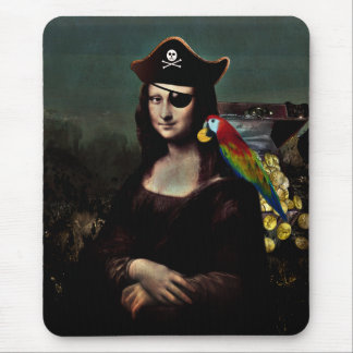 Mona Lisa Pirate Captain Mouse Pad