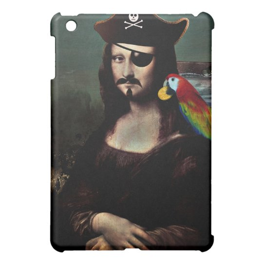 Mona Lisa Pirate Captain - Mustache Case For The iPad Mini