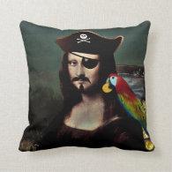 Mona Lisa Pirate Captain - Mustache Pillows