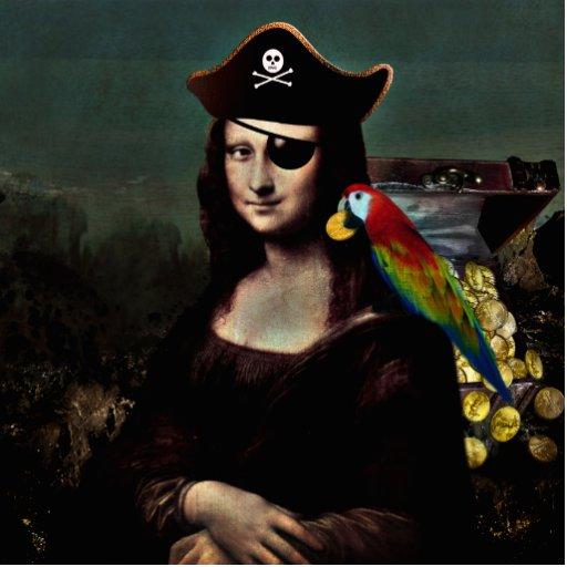 Mona Lisa Pirate Captain Photo Cutout