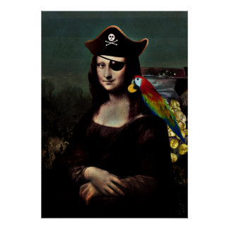 Mona Lisa Pirate Captain Print