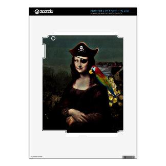 Mona Lisa Pirate Captain iPad 3 Decal