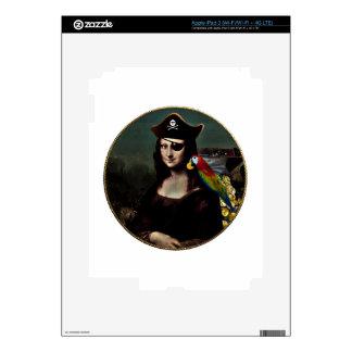 Mona Lisa Pirate Captain Skins For iPad 3