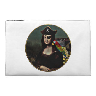 Mona Lisa Pirate Captain Travel Accessories Bag