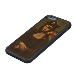 Mona Lisa Pirate Captain With a Mustache Carved® Cherry iPhone 6 Bumper