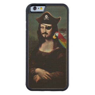 Mona Lisa Pirate Captain With a Mustache Carved® Maple iPhone 6 Bumper