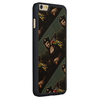 Mona Lisa Pirate Captain With a Mustache Carved® Maple iPhone 6 Plus Slim Case