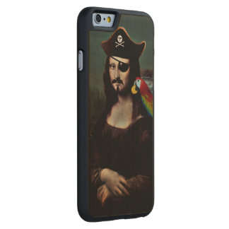 Mona Lisa Pirate Captain With a Mustache Carved® Maple iPhone 6 Slim Case
