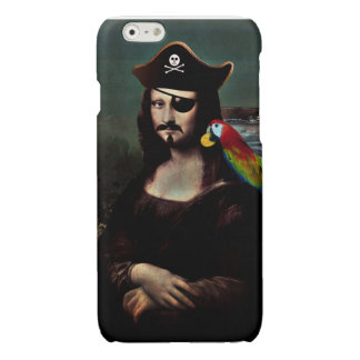 Mona Lisa Pirate Captain With a Mustache Glossy iPhone 6 Case