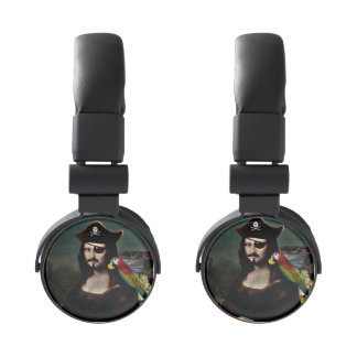 Mona Lisa Pirate Captain With a Mustache Headphones