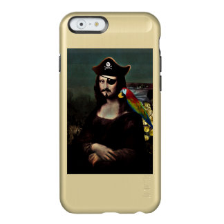 Mona Lisa Pirate Captain With a Mustache Incipio Feather® Shine iPhone 6 Case