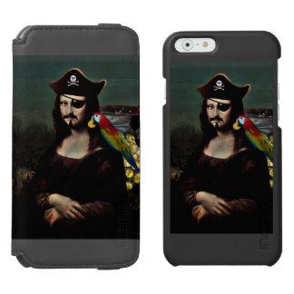 Mona Lisa Pirate Captain With a Mustache Incipio Watson™ iPhone 6 Wallet Case