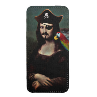 Mona Lisa Pirate Captain With a Mustache iPhone 5 Pouch